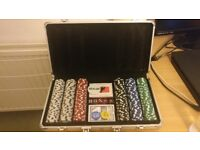 Poker set in a case. Perfect conditions, used 1-2 times.