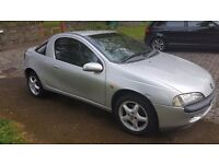Vauxhall Tigra 1999 T Reg For Sale. Few little scratches and marks, Nothing major for older vehicle.