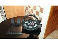 Logitech gt steering wheel and controls for pc and playstation