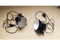 2 x Hobby photo / video studio continuous sparkler dome lamps