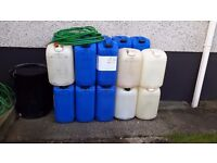 Heating oil drums for sale.