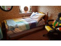 Country Cottage Style Pine Single Bed with Pull out Guest Single Bed Matresses Optional