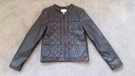 Girls Zara Faux Leather Jacket, age 9/10 yrs. As New, Never been Worn. Fab Christmas Present!