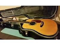 Recording King RO-127 Acoustic Guitar in TGI Hard Case