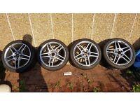 Genuine diamond cut Mercedes AMG alloys on brand new Dunlop Sport Maxx RT - 255/35/18 - 235/40/18