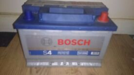 bosch car battery S4 model 068 74 Ah 680 amp in excellent cond tested can deliver £35