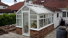 UPVC White Conservatory - 335cm x 220cm. Good condition