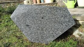 Granite Vanity Top, polished and bull nose edged Nero Impala
