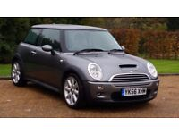 MINI COOPER S 56PLATE 2006 6SPEED 99000 MILES SERVICE HISTORY METALIC GREY HALF LEATHER AIRCON ALLOY
