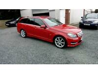 2011 Mercedes C220 DIESEL Estate Half Leather Interior 2Keys Can be seen anytime