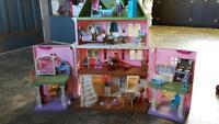 loving family doll house and accessories