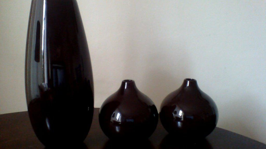3 Brown Vases