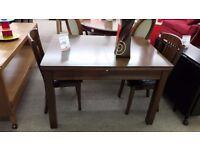 Julian Bowen Dark Wood Table + 2 Chairs