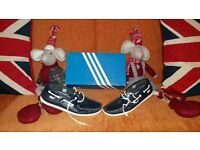 Real leather River Island shoes size 8, nearly new, made in Portugal. And Fila shoes-trainers - s 8.