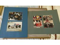 COLLECTION OF FORMULA ONE F1 LEWIS HAMILTON DAMON HILL AUTOGRAPHS & PICTURES WITH SIMON WARD ART for sale  Poole, Dorset