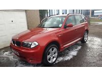 BMW X3 2.0TD SE,ALLOYS,BLACK LEATHER,CRUISE CONTROL,AIR CON.4X4,FULL SERVICE HISTORY,VERY CLEAN