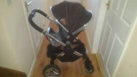 Icandy peach pram and pushchair excellent condition