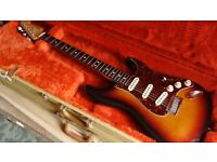 Fender Stratocaster 1989 E series USA with original fender tweed case.