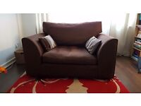Lovely brown fabric cuddle chair