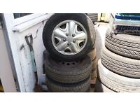 5 GOOD FORD WHEELS AND TYRES 13 INCH