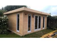 GARDEN OFFICES LOG CABINS BEACH HUTS CHALETS HORSE STABLES LOG HOMES BESPOKE HAND BUILT UK LONDON