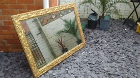 STUNNING LARGE MIRROR IN METALIC DECORATIVE FRAME
