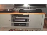 Painted Tv unit and matching table