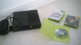 xbox 360 e console only no controls + 3 games