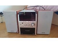 Panasonic Stereo and speakers, 5 cd changer, aux, tape