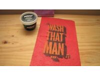 Lush Whoosh shower jelly and Wash That Man wash sheet - NEW AND DISCONTINUED