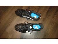 Boys Adidas football boots (UK size 10) - Like NEW
