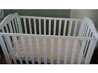White Mothercare Takeley cot.