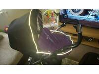 Silver Cross pushchair purple buggy