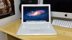 Apple Macbook White 13' warranty Logic Pro 9 Waves GarageBand Adobe CS6 Intel 2Ghz 2GB Ram 120GB HD