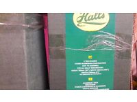 """Halls"" brand greenhouse staging. Two packs one single one two tier"