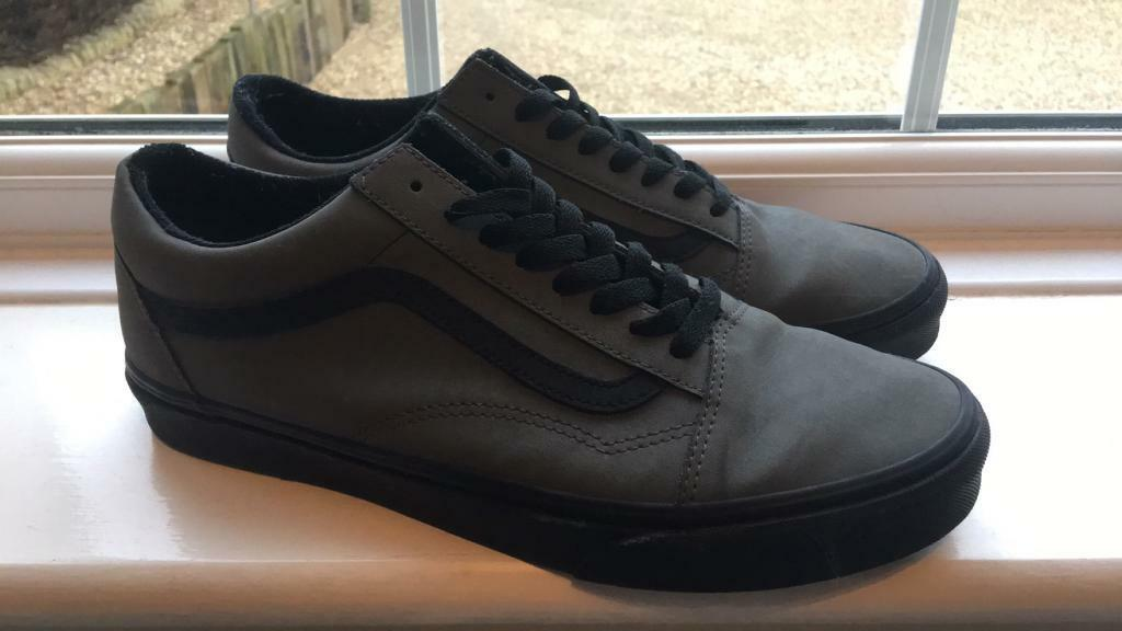 Uk Greyamp; Skool FakenhamNorfolk Nubuck Gumtree Old Pewter Size 10BoxedIn Black Vans Shoes Vansbuck Trainers 0wOyvmNn8