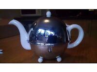 Rare Vintage Art Deco Ever-Hot Tea Pot With removable Chrome Insulation