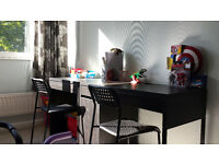 2 desks - IKEA + 2 chairs (great for kids) - quick sale required