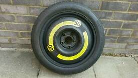 Space saving spare wheel