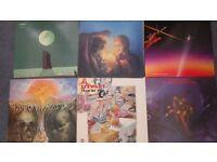 Six vinyl records