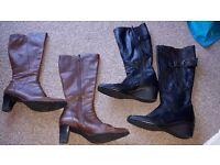2x Ladies clarks boots size 5.5