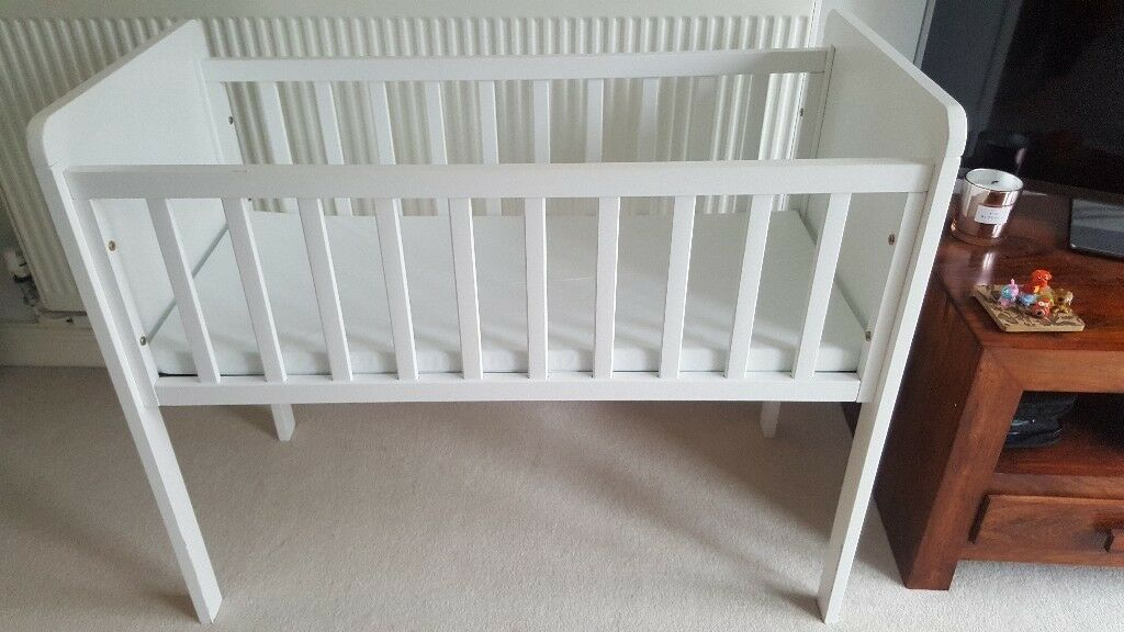 Fab white baby cot-great condition