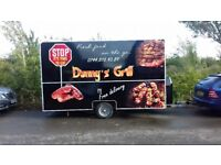 For Sale or Rent Catering trailer Lpg Equipment setup Gas Griddle burco Fryer Bain marie