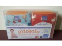 Unopened New Bambino miosolo reusable nappy set