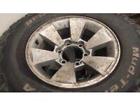 shogun/L200 alloy wheels