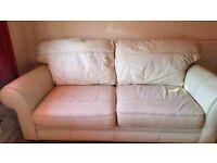 Cream 2 and 3 seater sofa