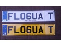 IDEAL CHRISTMAS PRESENT.. Eye catching number plate - 'FLOGUA T'