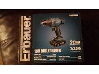 BRAND NEW...... Ebaurer 18v Drill Driver