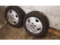 "X2 Vauxhall 14"" Alloys with tyres"