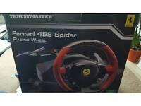 Thrustmaster Ferrari spider racing wheel